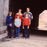 Covered Bridge north of Cedarburg... Tammy,Kristin,Lori, Diane & Gene.... abt 1982