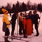 Playing in the snow... Shirley,Jim,Diane,Gene,Dave... abt 1980