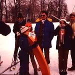 Enjoying the snow... Jim,kristin,Lori,Gene,Tammy,Diane,,, abt 1980