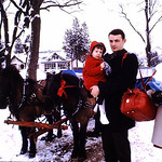 Tammy, Eugene and Diane, Sleigh-ride,... abt 1971