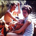A trip up the Somo River...Gene,Diane,Tammy & Lori.. abt 1973