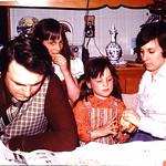 I think Lori is up to something.. Dad,Tammy,Kristin & Mom... abt 1978