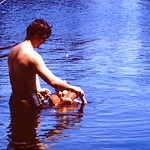 Gene & Tammy trying out the water... abt 1973