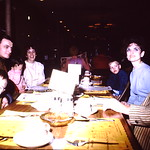 Looks like a little jawing underway... Wendell, Joe, Gene, Tammy, Diane, John, Jean & Ron... abt 1971