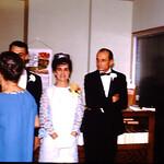 reception line-Eugene Diane wedding-Olive& Lewis Klevenow,Diane's grandfather-Albert Noderer, Grandmother Noder facing Diane