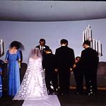 Getting married. Eugene Diane wedding-Nancy,Marcy,Helen John,Diane,Pastor Hallman,eugene,Bob,Terry,Ron