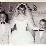 Bob, Shirley & Gene with Wendell & Jim on the mantel... 1955
