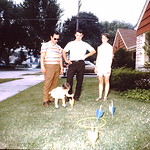 Ron,Tammy, Eugene & Diane at 7225 W Hadley... abt 1970