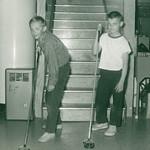 Jeff Haugbaugh & Gene... basement Hadley...abt 1960