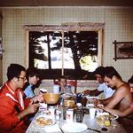 1970 dinner at Tomahawk Bob Donna Eugene Dennis Diane Danny
