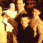 The new kid meets Aunt & Uncles...Janice,  Jeff,  Ron,  Gene & Bob... 1956
