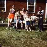 Shirley, Janice, Joe, Helen, Eugene, Robert, Ron (holding Duke)... Tomahawk... 1952